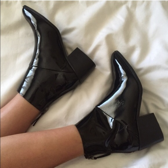 Topshop Shoes | Sale Midnight Patent