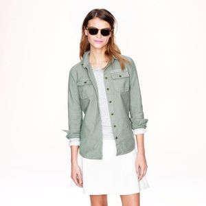 NEW J. Crew Military Pocket Shirt
