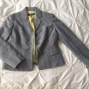 Le Suit Jackets & Blazers - Gray/Yellow Plaid Suit Jacket Blazer