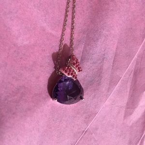 Other - Amethyst with pink butterfly pendent nwt