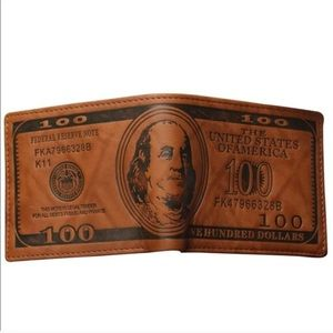 Miss Mare's Wares Other - Vegan Leather $100 Bill Wallet