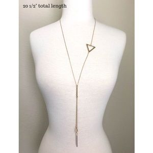 ‼️LAST ONE‼️Triangle Drop Necklace-Gold
