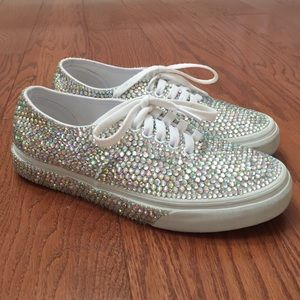 Almost New Crystal Sneakers size 8.5