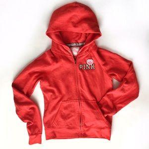 PINK Victoria's Secret Tops - VS PINK UMD Go Maryland red zip-up hoodie