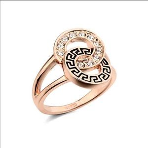 Jewelry - 18K Rose Gold Plated Ring with Austrian Crystals