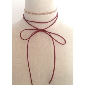 Dina Aziza Jewelry - LAST 1~2 Sep Necklaces Boho Crystal & Red Necklace