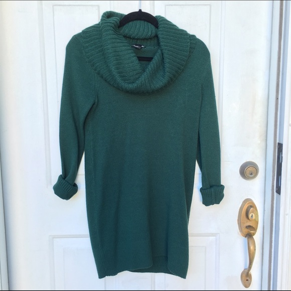 53% off H&M Dresses & Skirts - H&M Forest Green Cowl Neck Sweater ...
