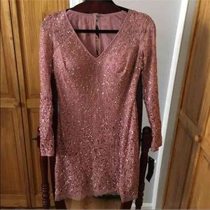 Aidan Mattox embellished sequin dress