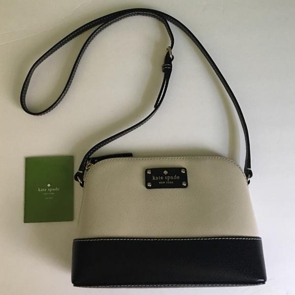 53fd597975 kate spade Handbags - Kate Spade Wellesley Hanna Cream Black Crossbody