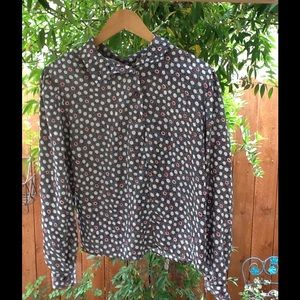 Women's Polka Dot Vintage Button Blouse