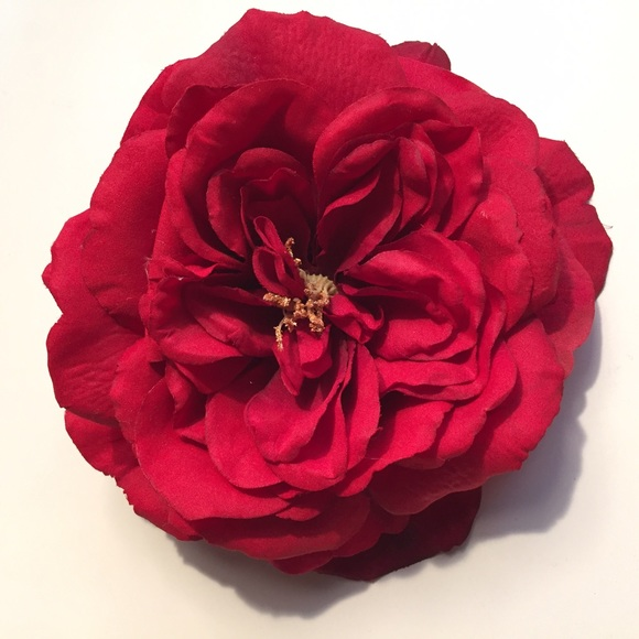 vintage box 1947 accessories giant red rose hair clip poshmark
