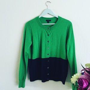 J Crew color block sweater