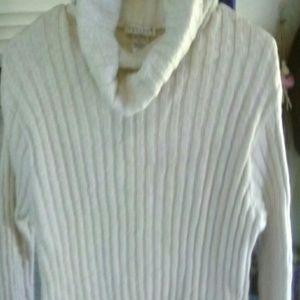 Avalon Sweaters - SWEATER CREAM COLORED COWL NEVK