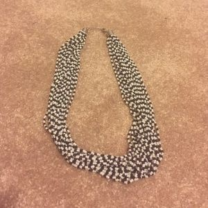 LOFT - Black & White bead necklace