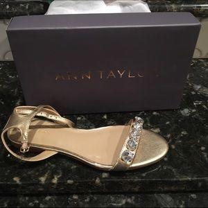 Ann Taylor Jeweled Flat Sandal
