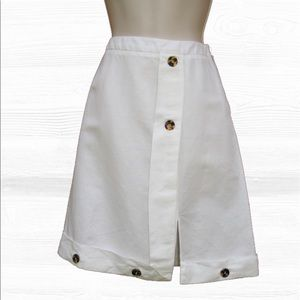 Galliano Dresses & Skirts - Galliano Linen Cotton Blend Knee Length  Skirt,