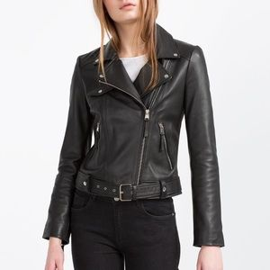 Zara Jackets & Blazers - Zara (TRF) Real Leather Jacket