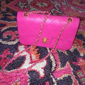 CHANEL Handbags - Chanel double flap* hot pink
