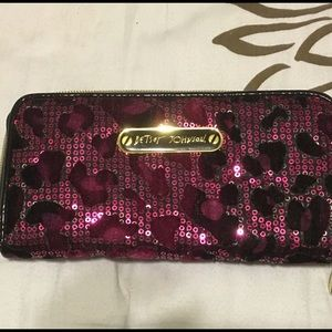 Gently Used Betsey Johnson Pink Leopard Wallet