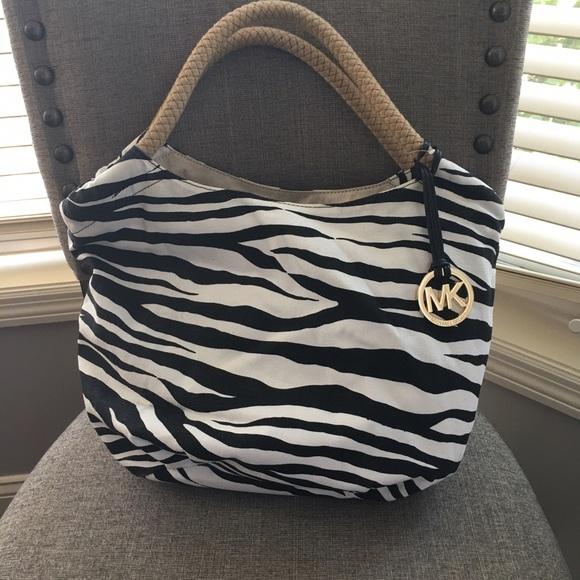319ab957e732 Michael Kors Bags   Zebra Print Tote Adorable For Summer   Poshmark