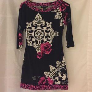 White House Black Market Print Dress