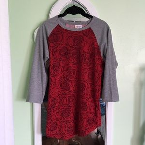 NWOT Small LuLaRoe Randy Red Roses