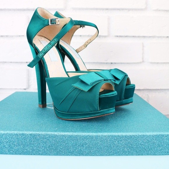 Betsey Johnson Shoes - Blue by Betsey Johnson jade green platform pumps