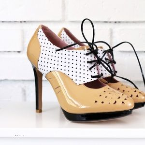 Shoes of Prey heeled oxfords in patent leather