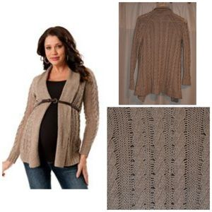 Motherhood Maternity Cable Knit Cardigan
