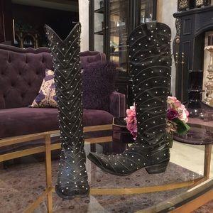 Old Gringo Shoes - Old Gringo Black Studded Boots