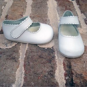 Baby Deer Other - White Baby Deer Shoes with Velcro