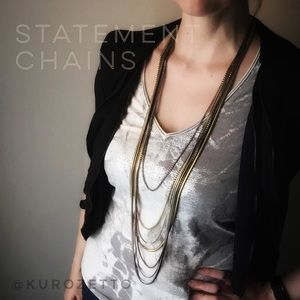 Cara Couture Jewelry - Multi Chain Statement Necklace by Cara Couture