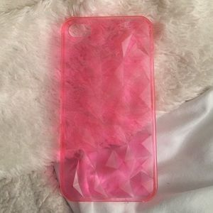 Accessories - iPhone 4 clear pink hard cover