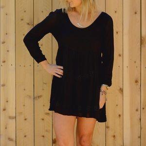 Eternal Sunshine Creations Dresses & Skirts - Eternal Sunshine Black Longsleeve Mini