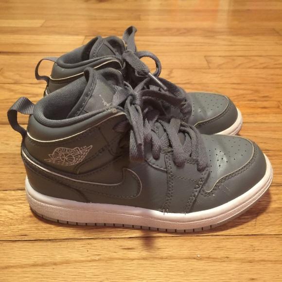 outlet store cc99a 13ccc Boys  Air Jordan 1 Mid Basketball Shoes - 11C. M 57db7d95b4188e79d3002234
