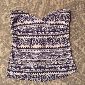 Tribal Strapless Shirt