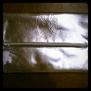 Victoria's Secret silver Angel clutch