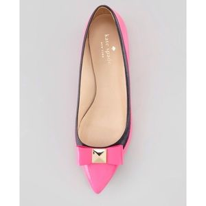 NEW Kate Spade 'Anika' Bow Patent Pointed Flats