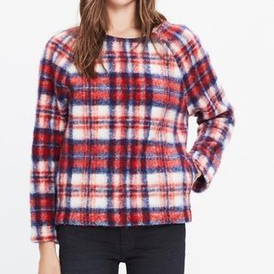 MADEWELL plaid brushed cotton pullover Nwt