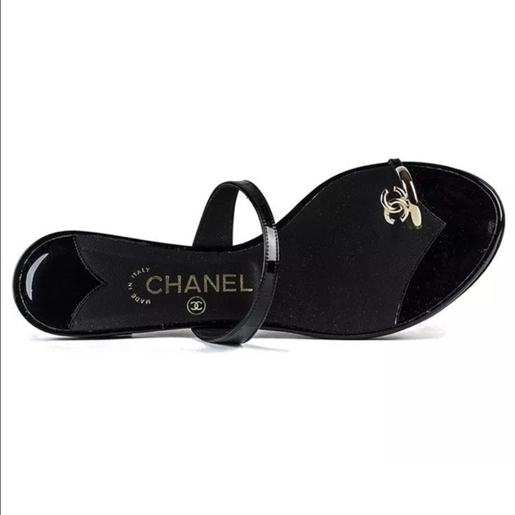 31b15487f6b665 CHANEL Shoes - Most coveted Chanel toe ring sandals 39.5 sz 9