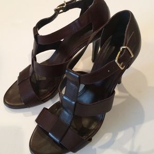 J.Crew Brown Leather Wedges
