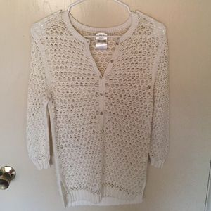 TSE Sweaters - TSE White Open Weave Sweater