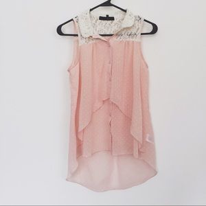 Tops - Sheer flowy tank top