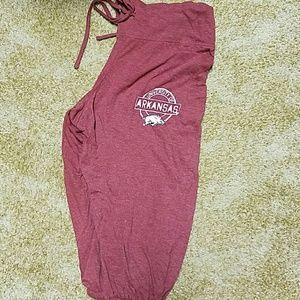 NCAA Pants - Arkansas razorback capris