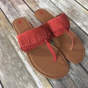 NIB Suede Fringe Sandals HP 7/8/17