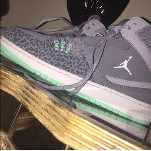 Mint green Jordan's still available