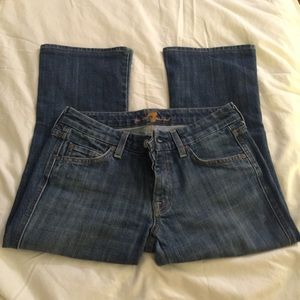 7 for all mankind A Pocket Cropped Capri Jeans 25