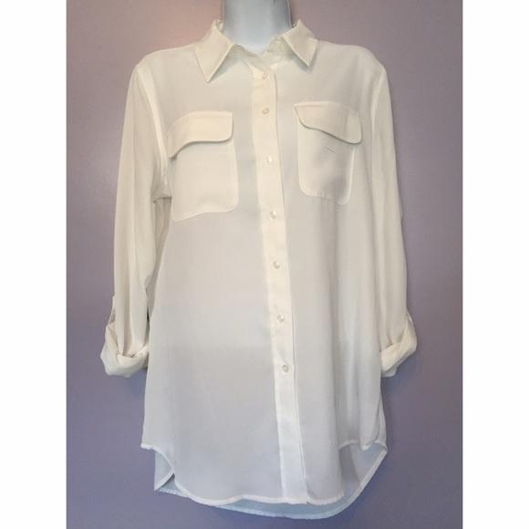 cb73bcc0 Zac & Rachel Tops | Zac Rachel Tab Sleeve Flowy Button Down Shirt ...