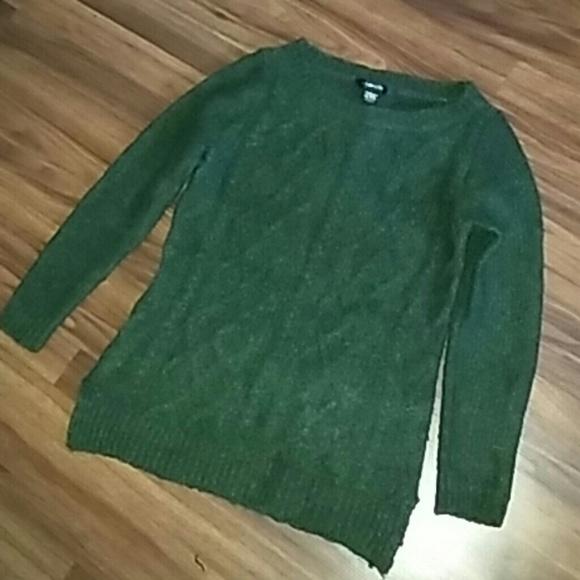 89th Madison Sweaters 89th Madison Green Knit Sweater Poshmark