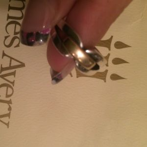 James Avery Jewelry - Auth James Avery 14K & sterling forever band ring